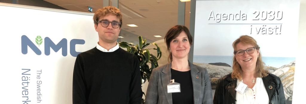 Talare på seminariet (från vänster): Johan Holmén (Chalmers), Lina K Wiles (Berendsen) och Anna Karin Jönbrink (AFRY)